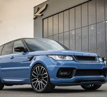 Powder Blue Pearl Range Rover Sport