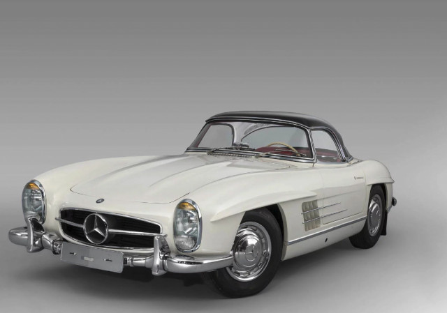 Mercedes-Benz 300SL Roadster with 850 miles
