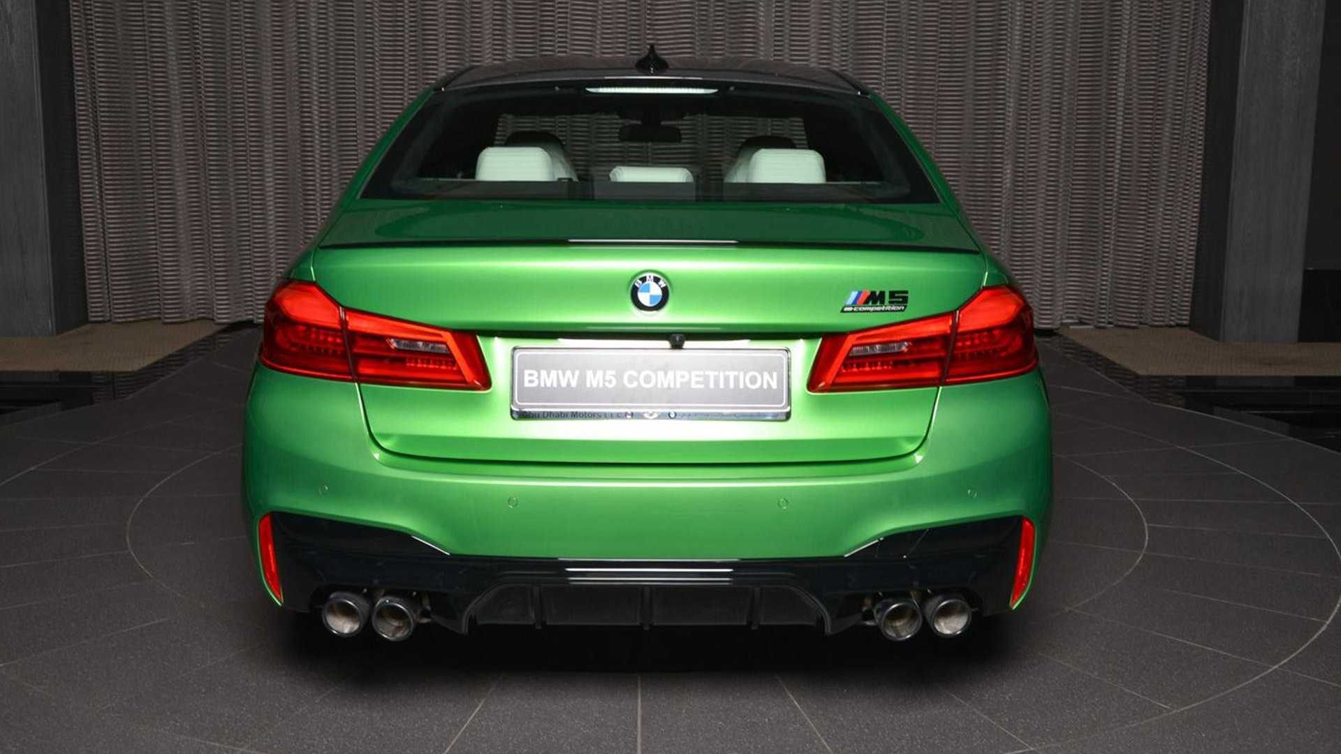 BMW M5 Competition Rally Green